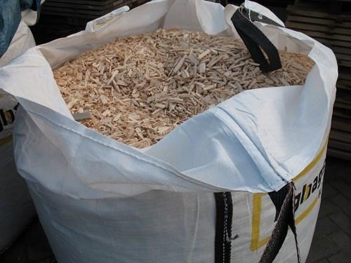 Kachelhout en houtsnippers